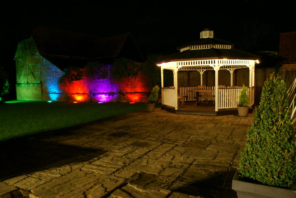 LED Lit Gazebo