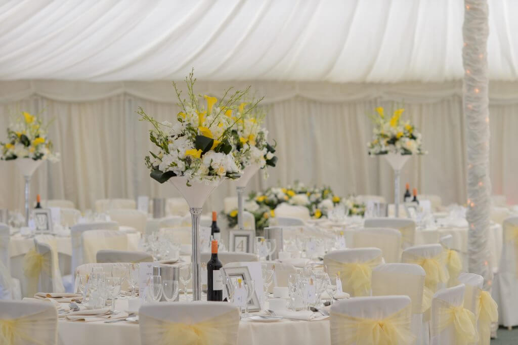 Essex Gazebo wedding venue tables