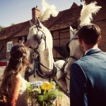 Bride and Groom with Horse and Carriage