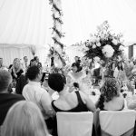 Bride and Groom Reception wedding venue essex Monochrome