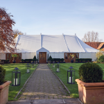 Marquee at Sunrise Newland Hall