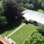 Newland Hall marquee top-down view