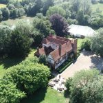 Drone view of Newland Hall