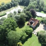 drone image of wedding venue