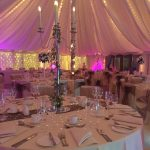 wedding reception dinner table