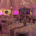 Inside Marquee pink lighting