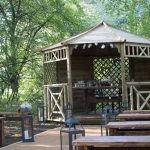 Gazebo at the end of the isle