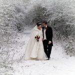 Newland Hall – Snow wedding shoot