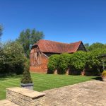 Old barn by Gazebo at wedding venue essex