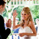 Bride & groom high 5