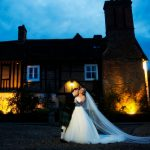 Bride and Groom twilight wedding wedding venue essex